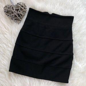Aritzia Black Fitted Bodycon Mini Skirt